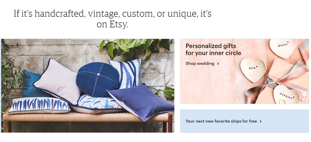 Etsy website page