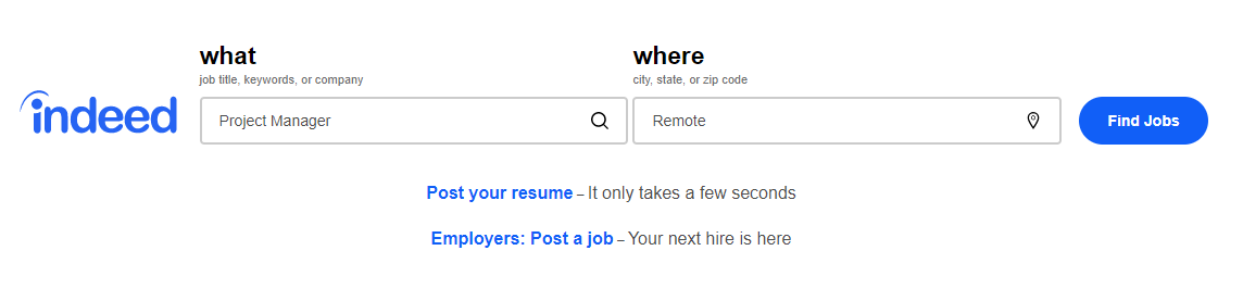 indeed job search tool