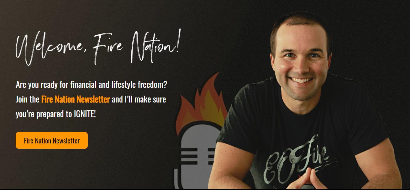 John Lee Dumas Fire Nation blog page