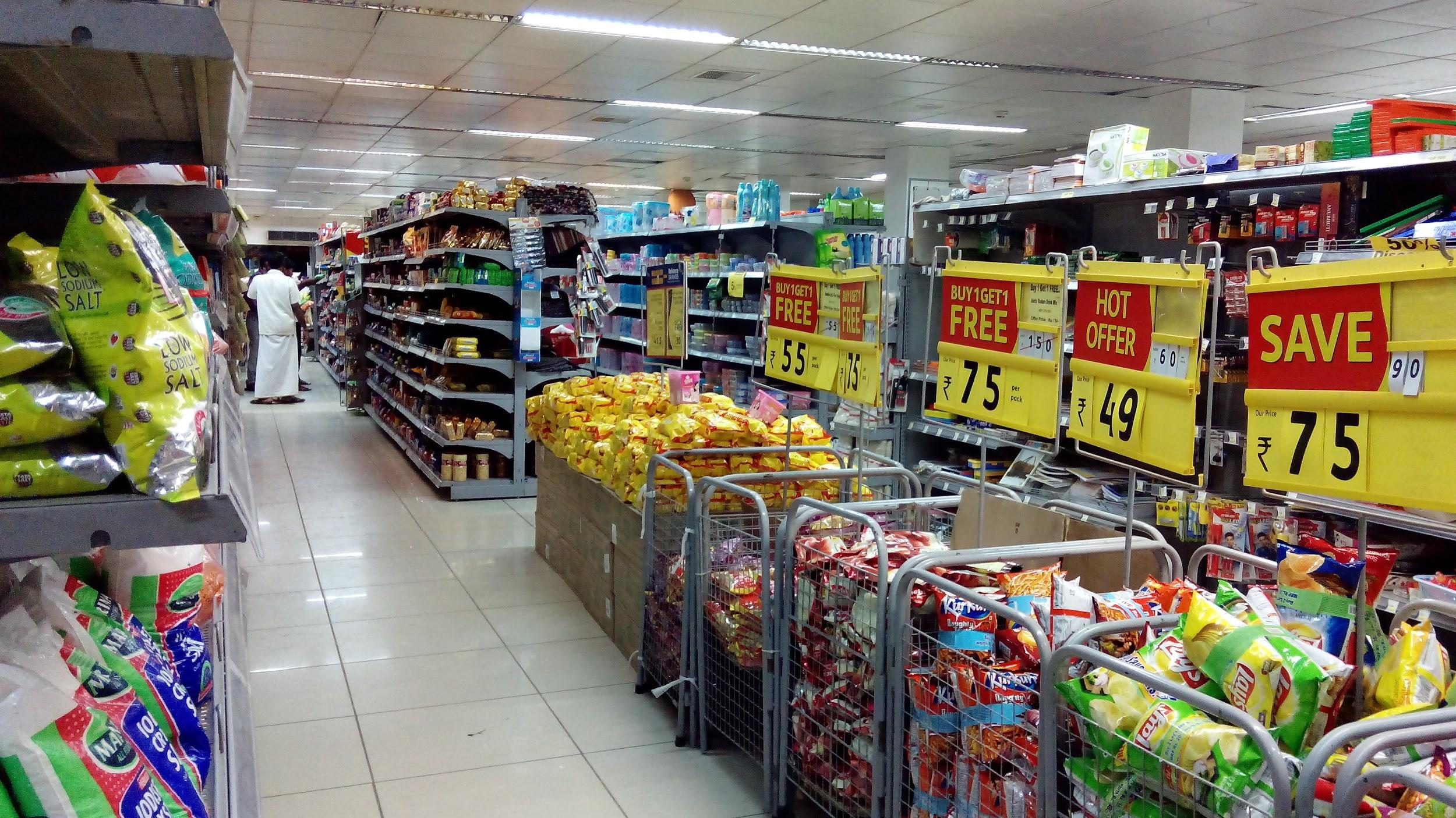 example of a grid layout in a retail store