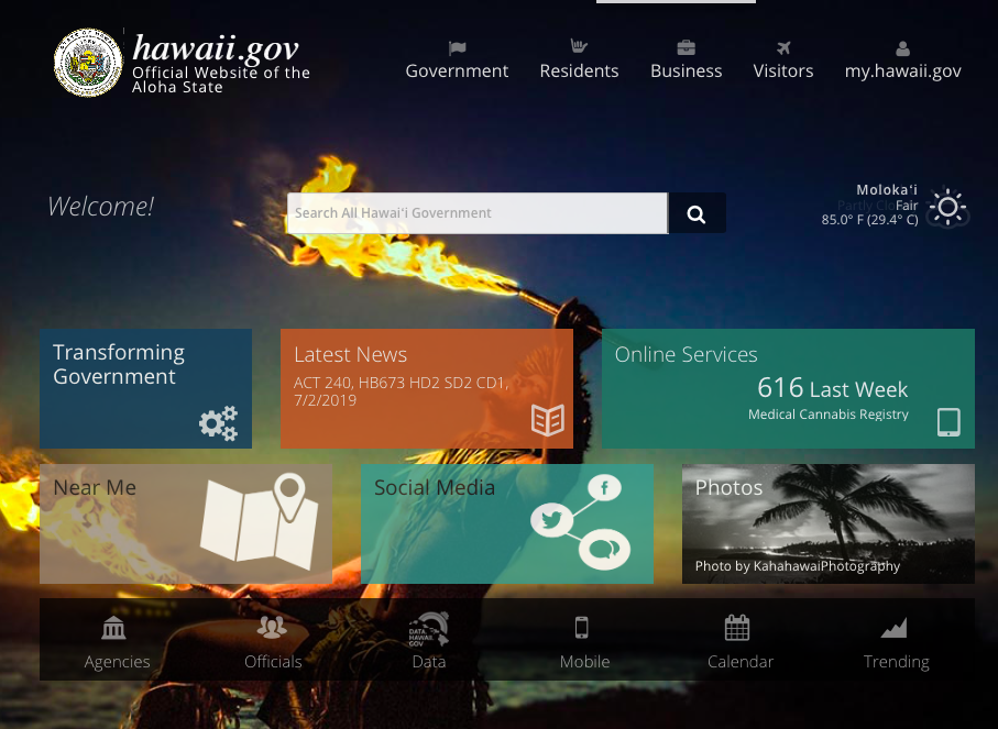 Hawaii.gov Homepage