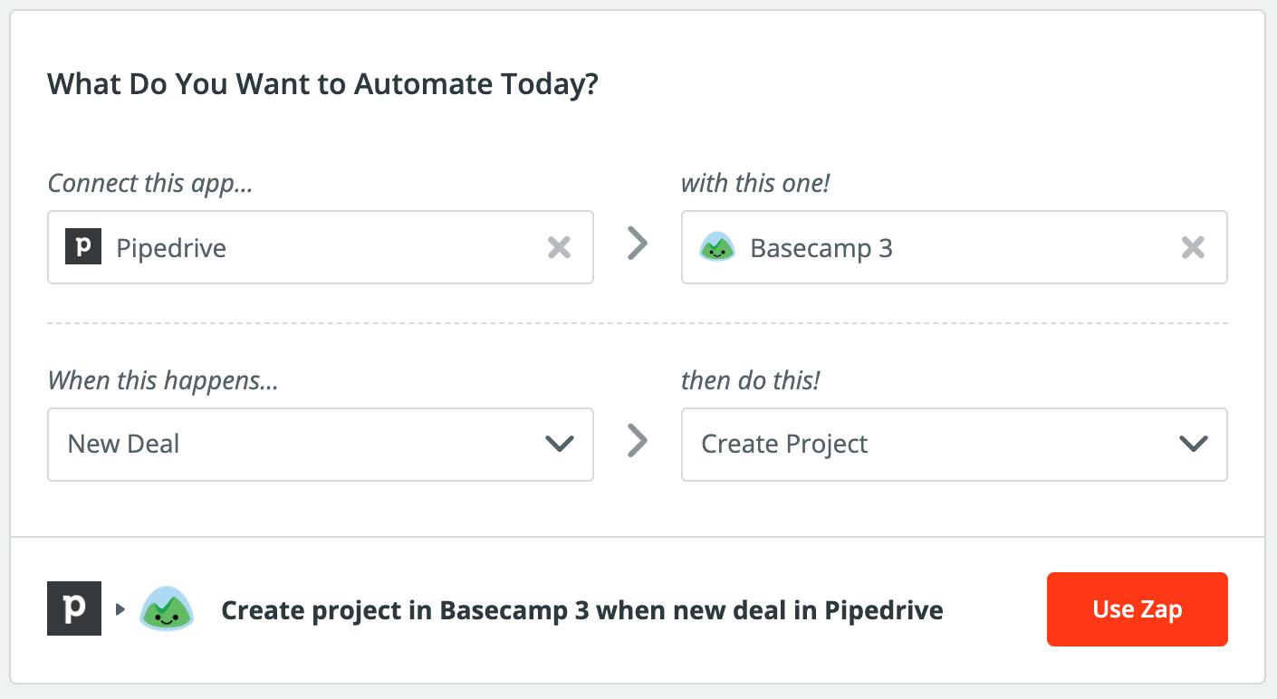 Pipedrive integration via Zapier