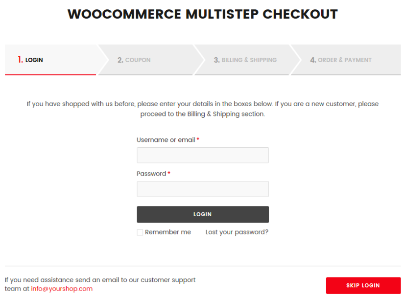 ARG Multistep Checkout example