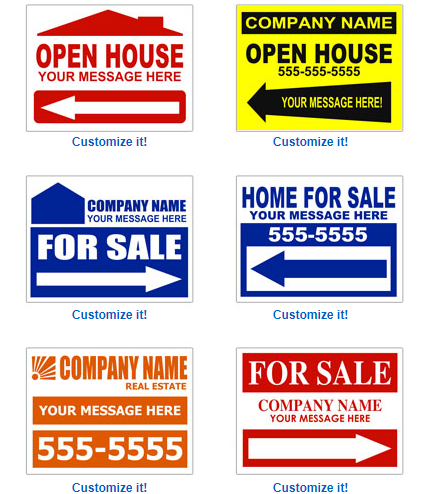 Signs On The Cheap Open House Signs
