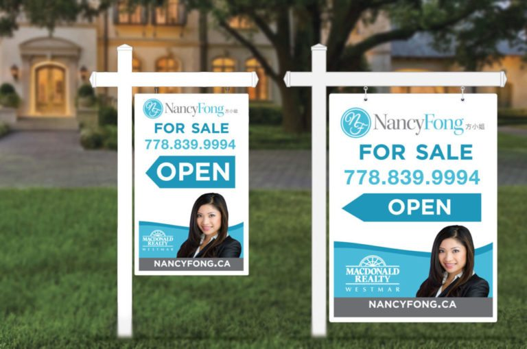 Nancy Fong Open House Yard Sign