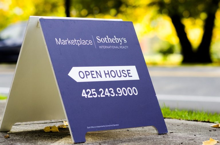 Marketplace Sotheby's Open House Sign