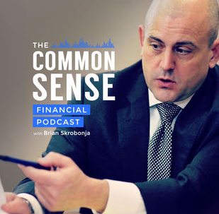 the common sense financial podcast with brian skrobonja logo
