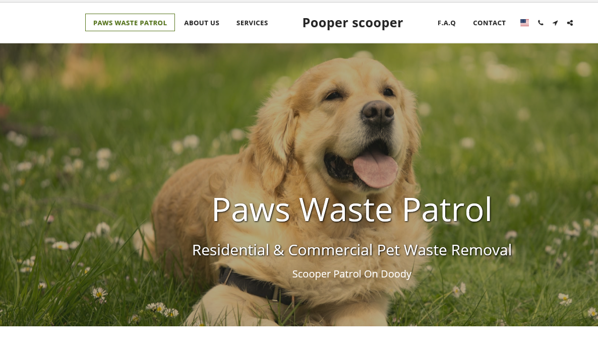 Paws Waste Patrol made using using SITE123