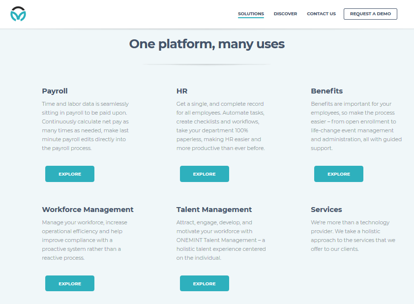 ONEMINT's features