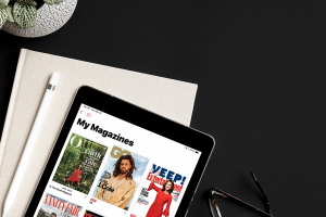 my magazines on a tablet