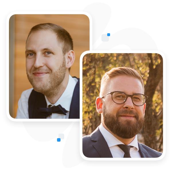 Martin Malych and Viktor Vanek, Founders of CloudTalk