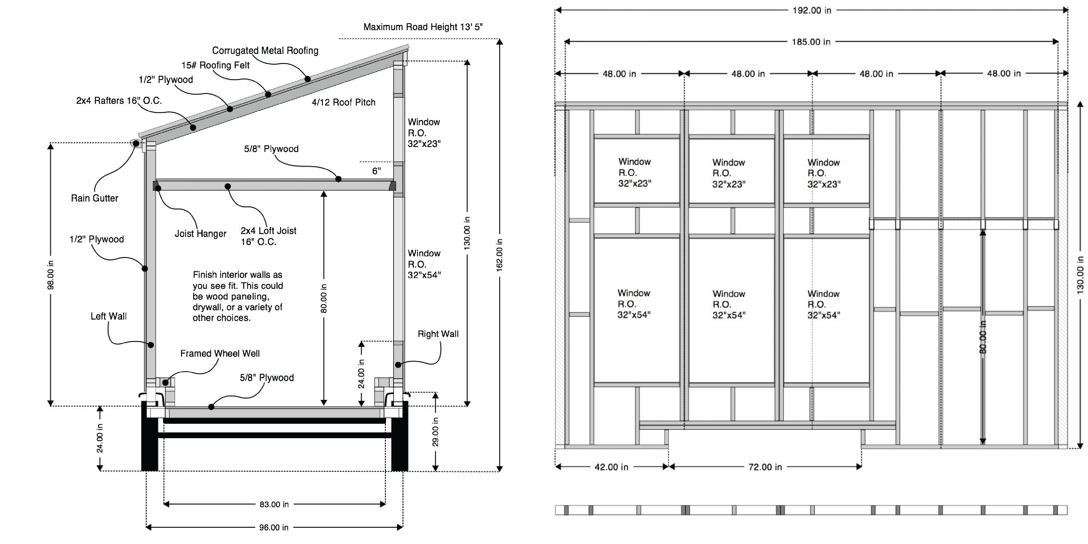 Plans for a passive solar tiny house from Tiny House Design