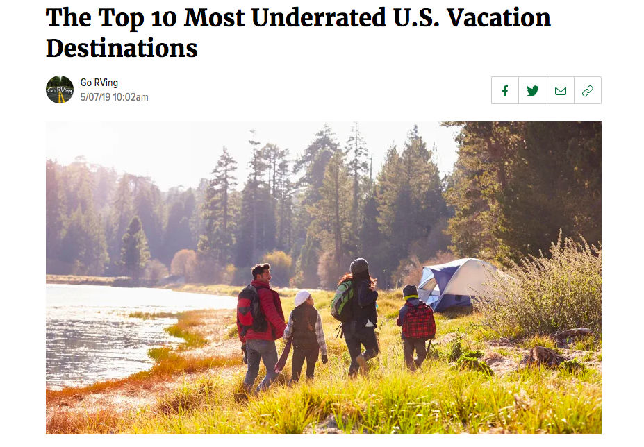 The 10 Most Underrated U.S. Vacation Destinations by Go RVing