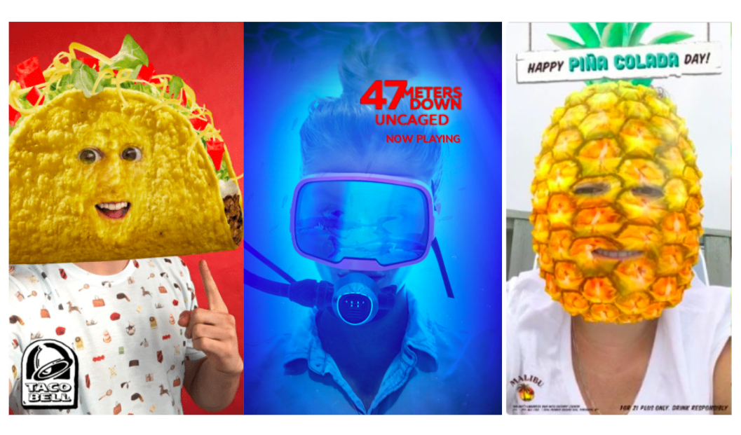 Examples of Sponsored Snapchat Filters