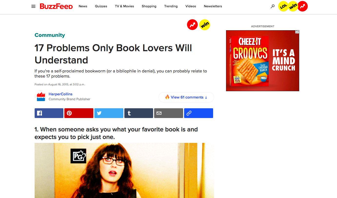 17 Problems Only Book Lovers Will Understand by HarperCollins and BuzzFeed