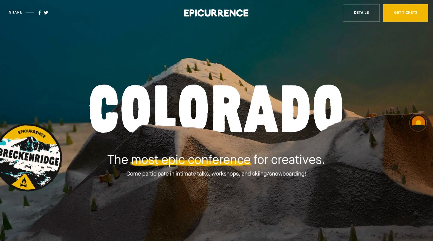 Epicurrence website home page