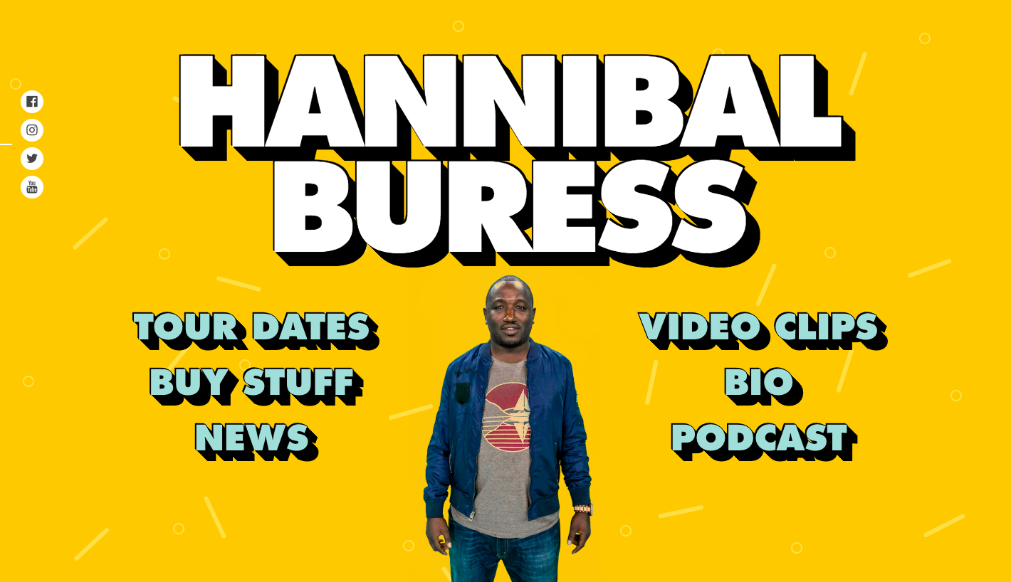 Hannibal Buress website home page