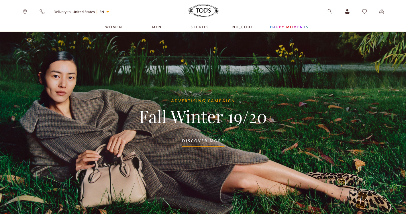 Tod's website home page