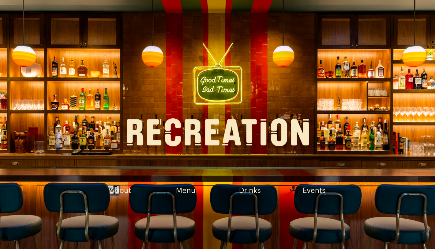 Recreation website home page