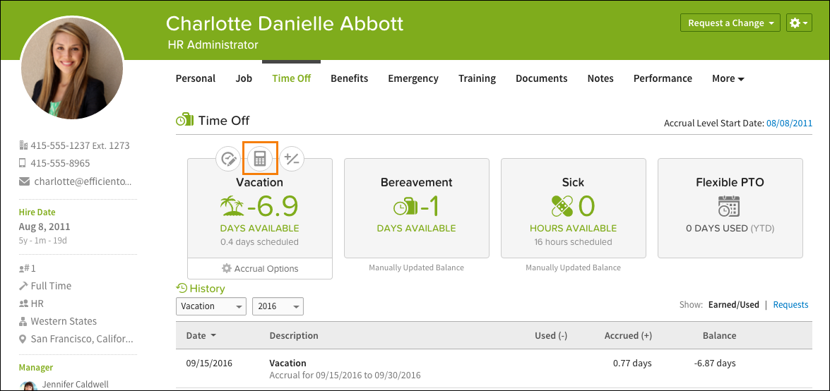 BambooHR employee interface