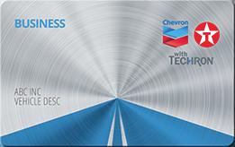 Chevron Texaco fuel credit card