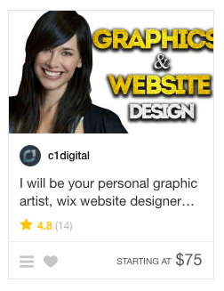 example of a web designer on fiverr