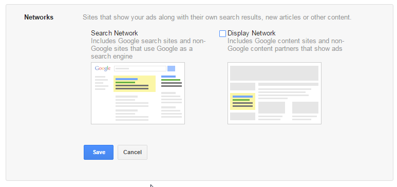 selecting networks for google ads