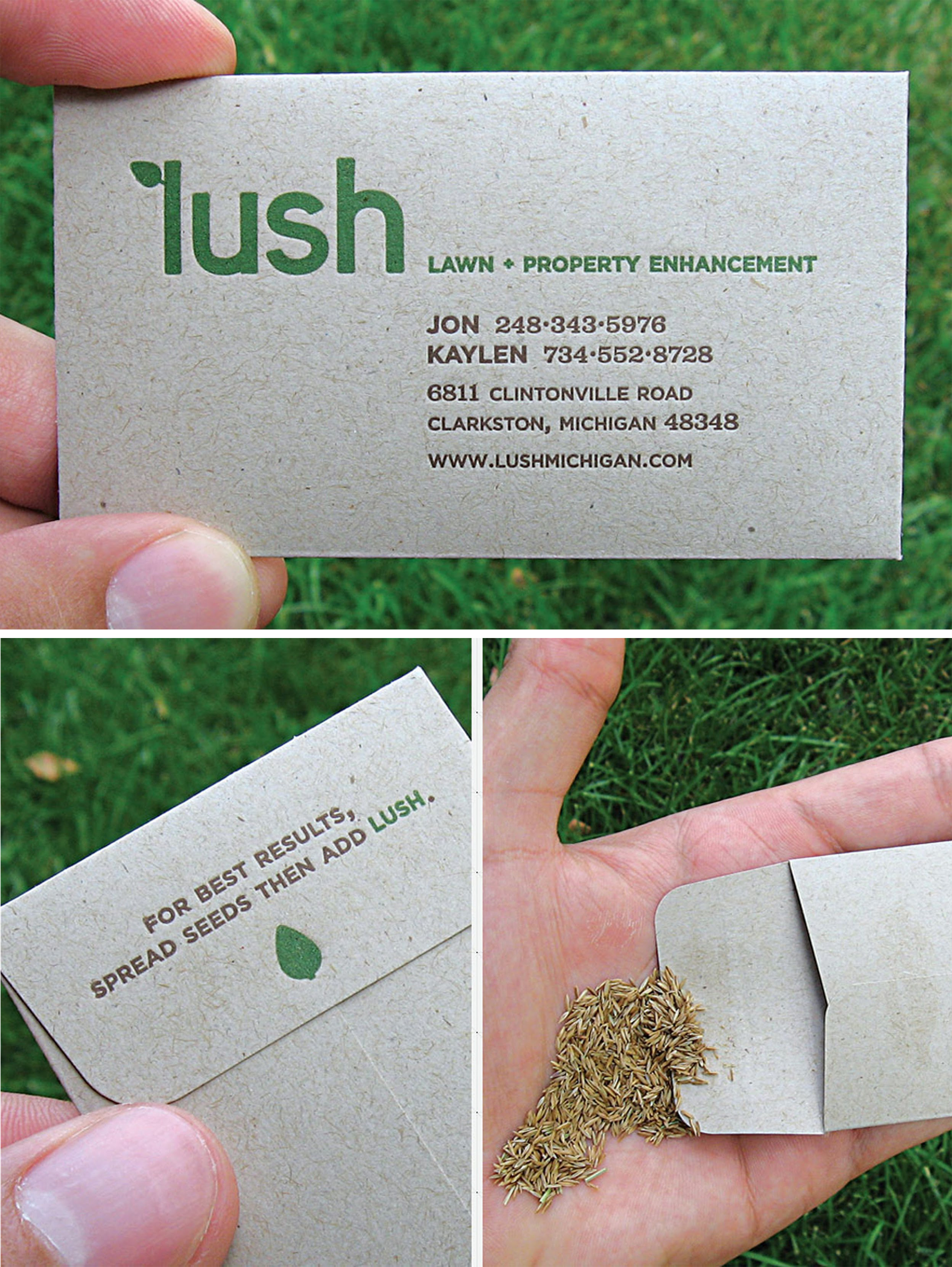 an example of a guerilla marketing strategy from Lush Lawn