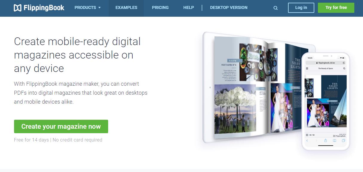 flippingbook homepage