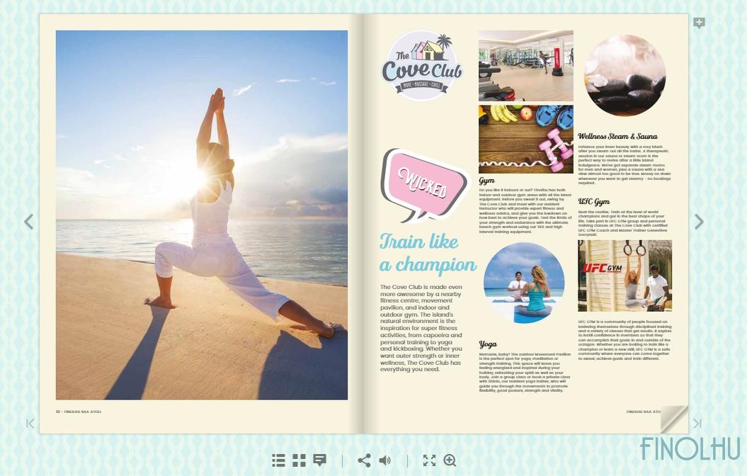 Finolhu magazine is published using FlippingBook