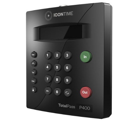 icontime totalpass p400 - employee time clock