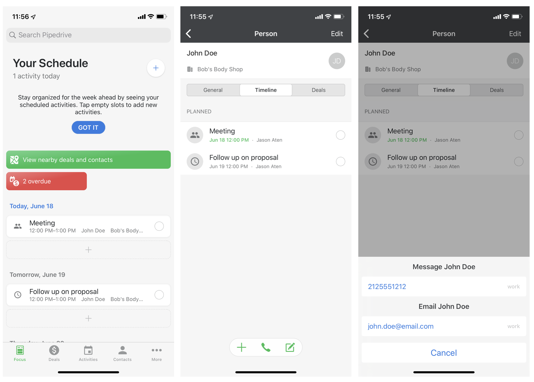 Pipedrive mobile CRM app
