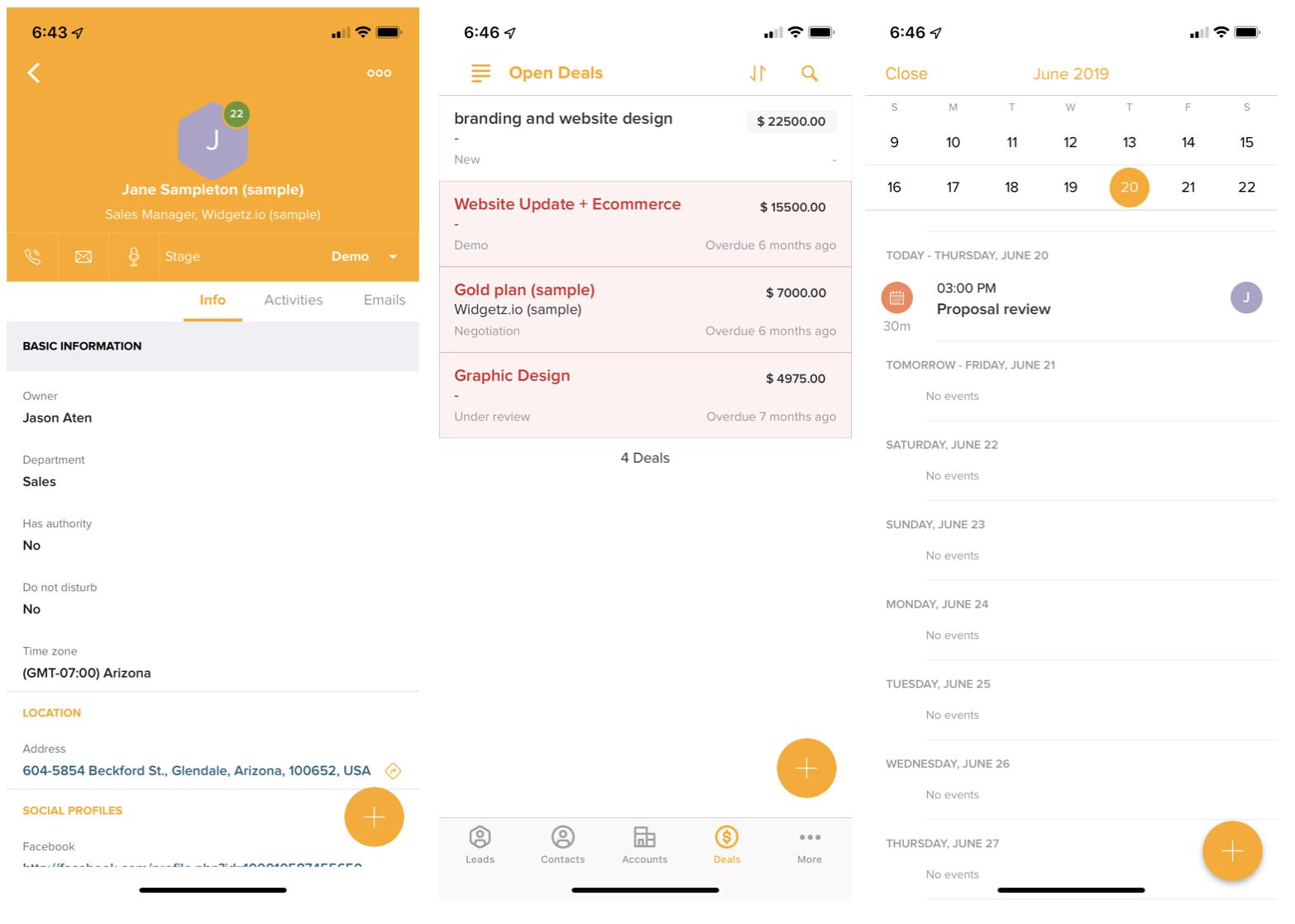 Freshsales mobile CRM app