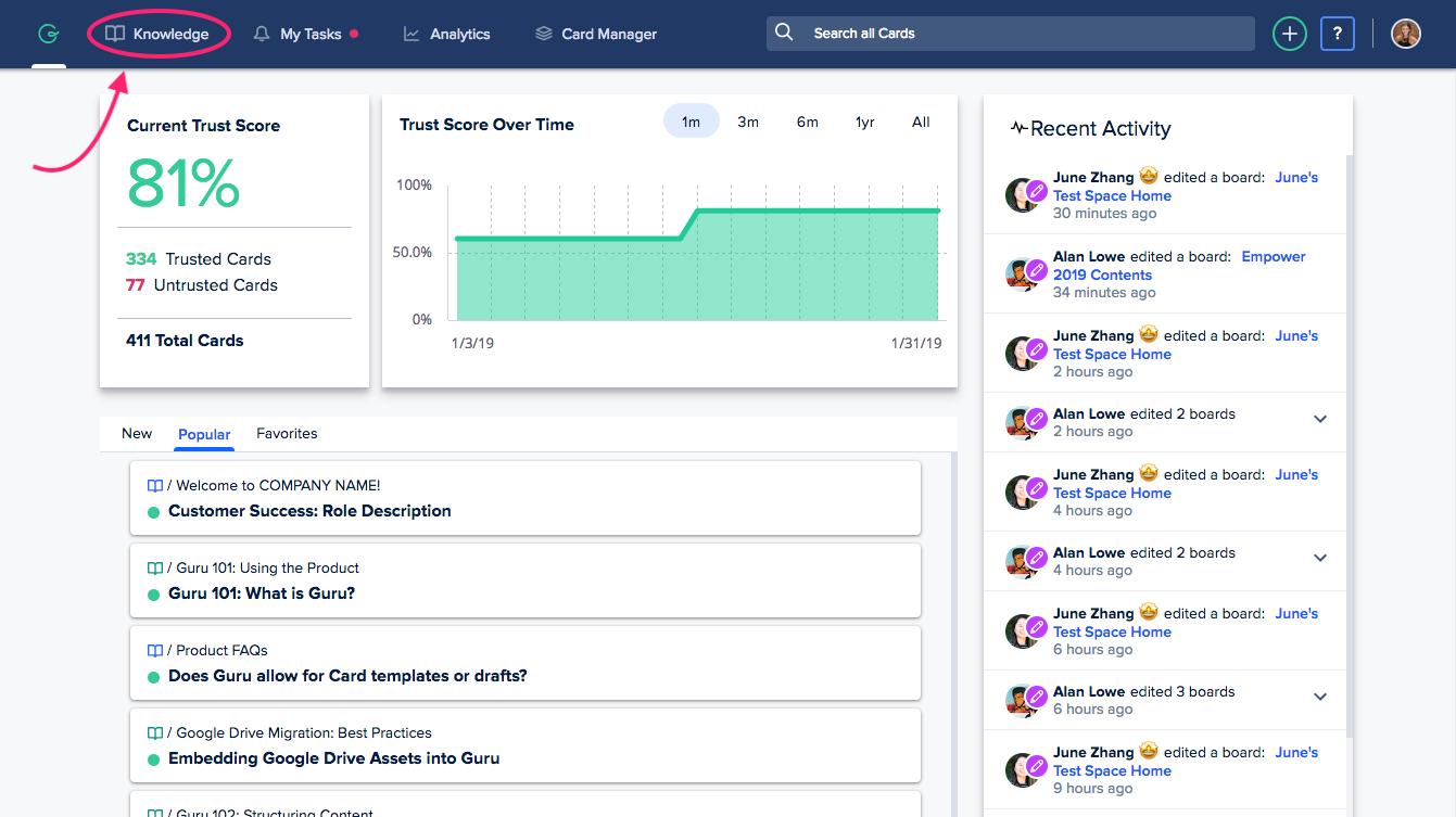 Guru - sales enablement tools