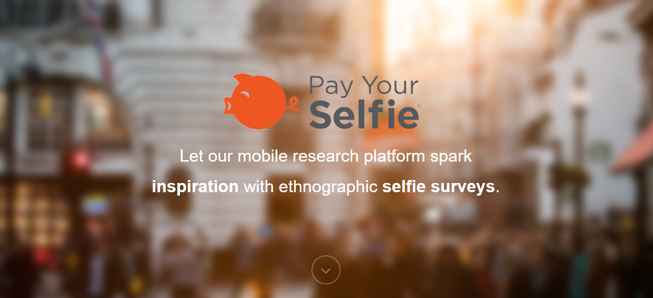 pay your selfie landing page