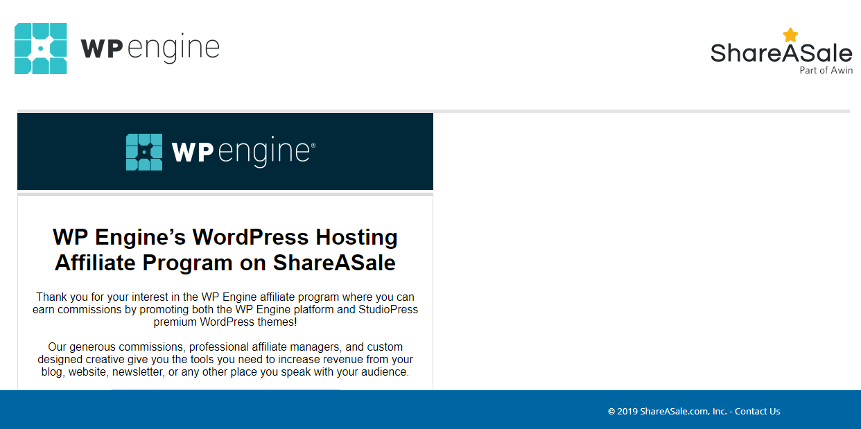shareasale.com landing page