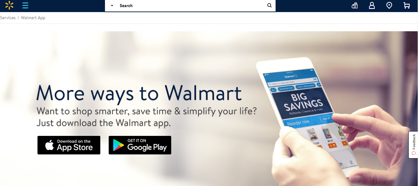 walmart's the savings catcher landing page