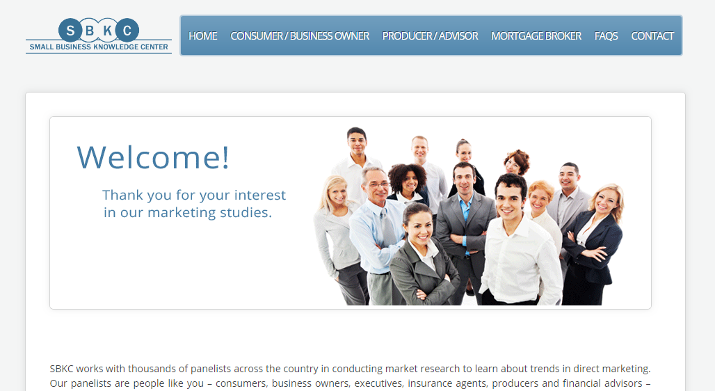 small business knowledge center's home page