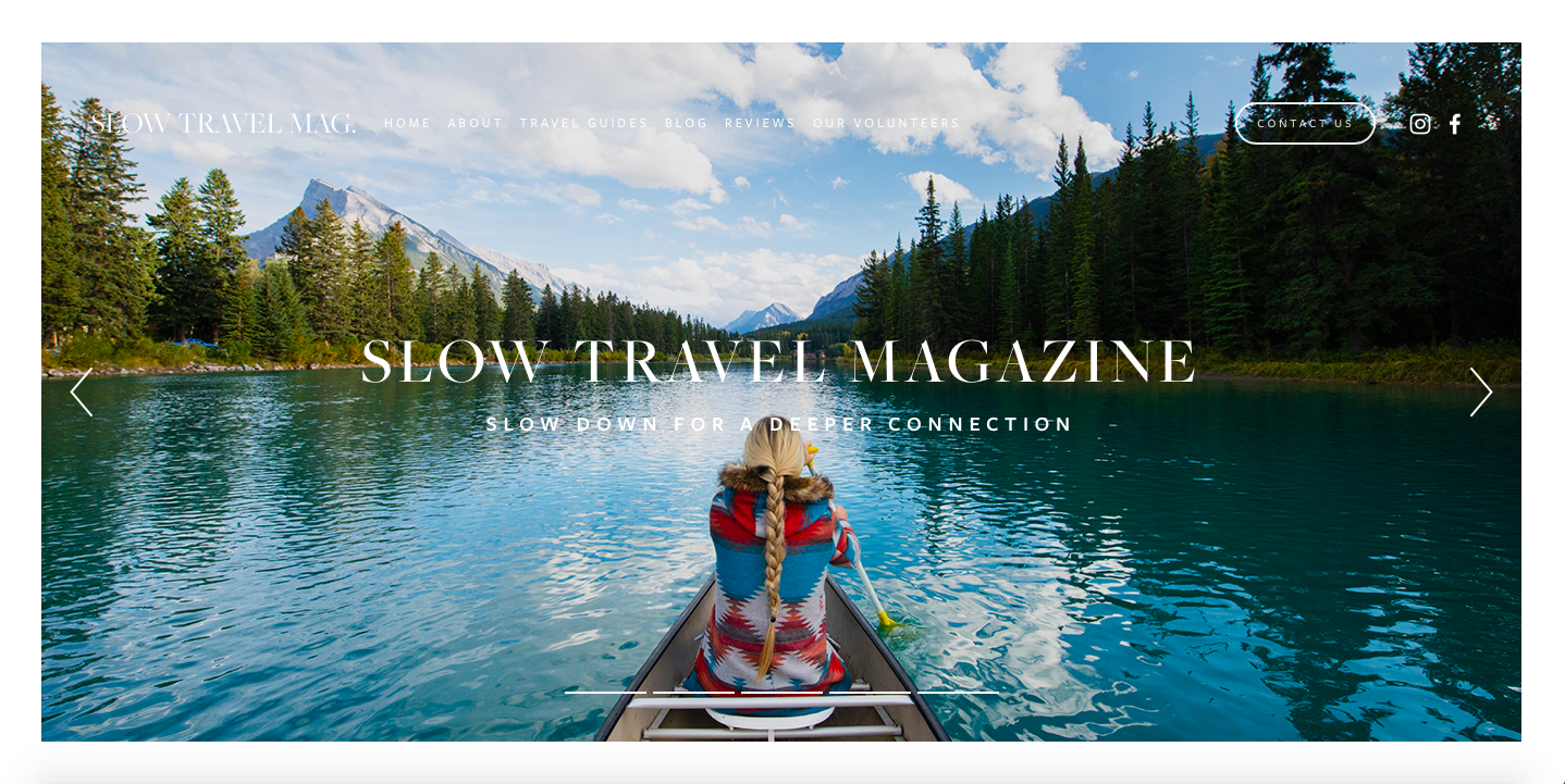Slow Travel Magazines website