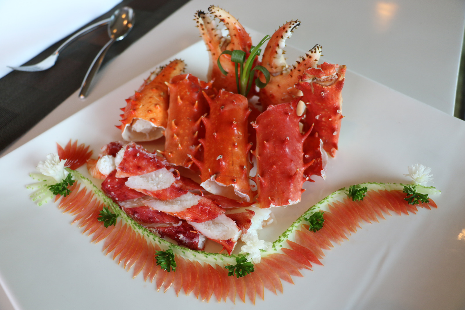 an example of high-end plating of lobster