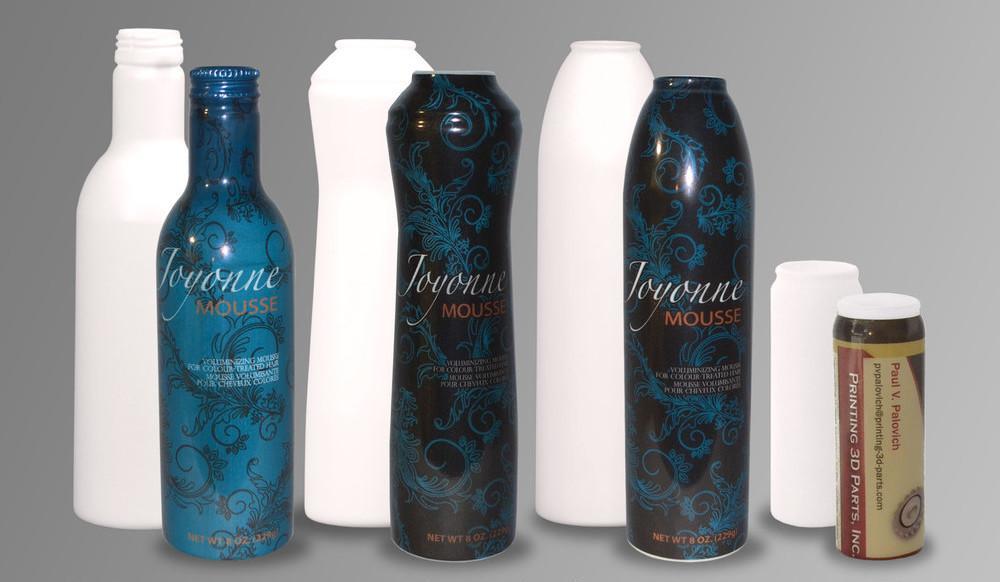 3-D printed bottles