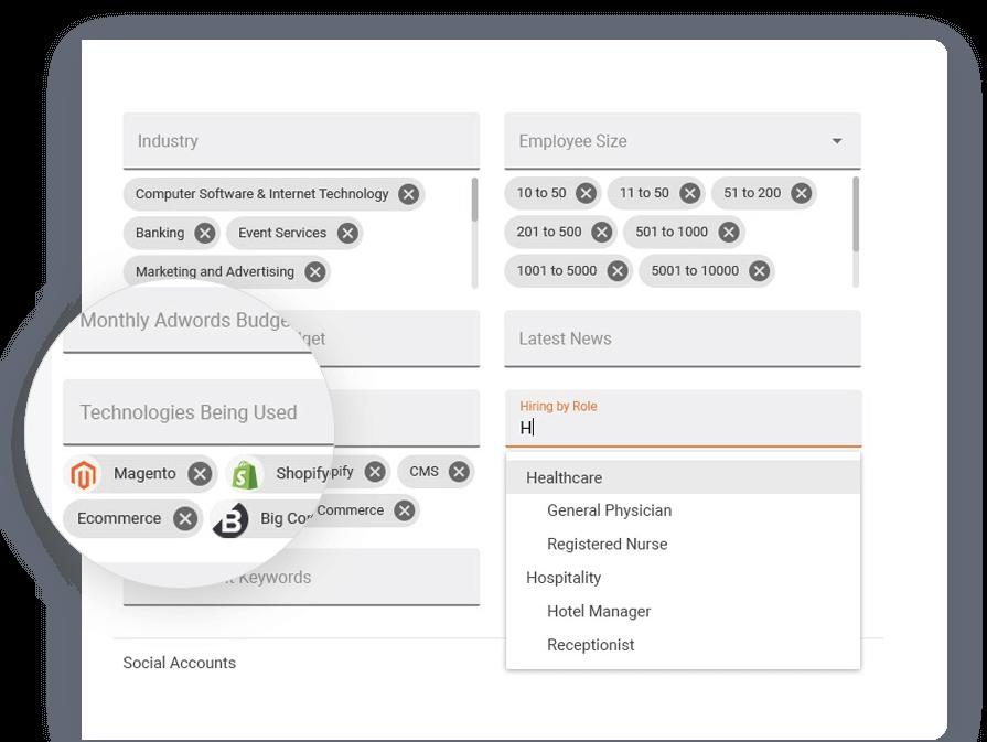 Screenshot of LeadFuze dashboard