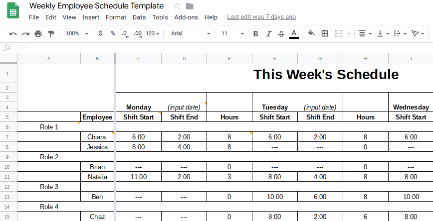 Scheduling Sheet Template from fitsmallbusiness.com