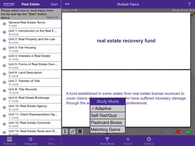 Kaplan real estate flashcards