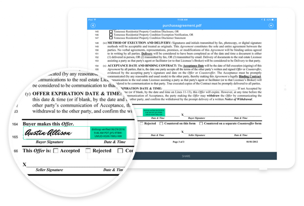 Dotloop electronic transaction management software