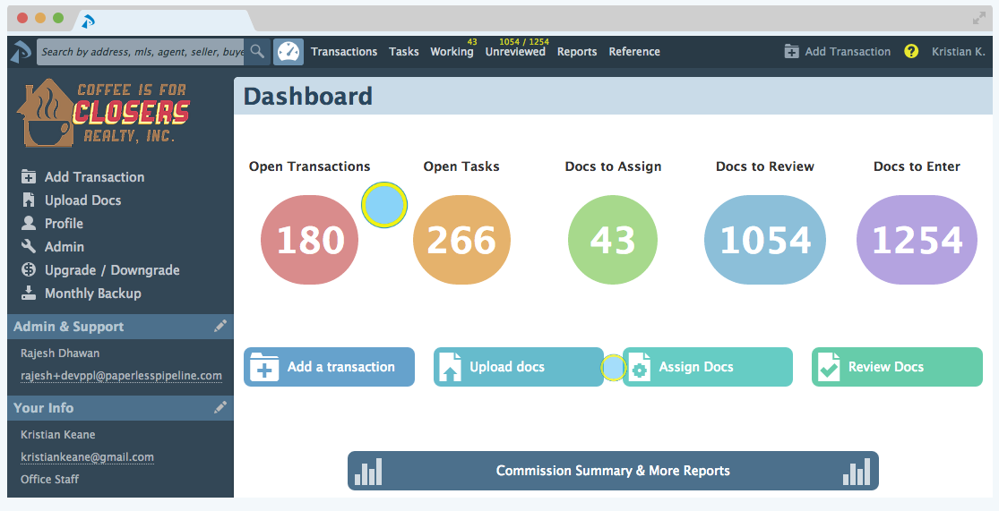 Paperless Pipeline Dashboard