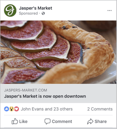 an example of a reach ad on facebook