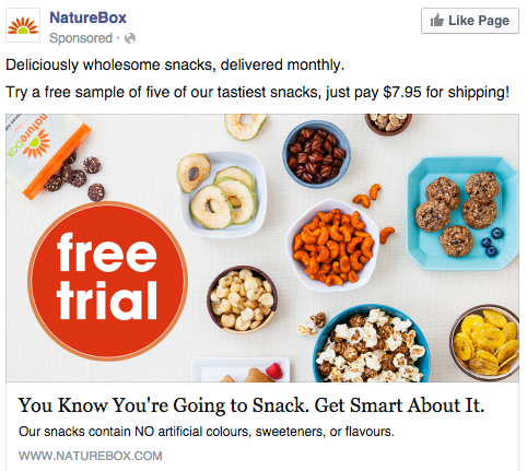 an example of a Facebook Page Like Ad