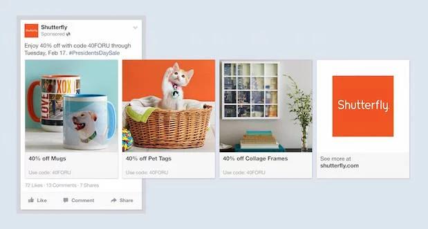 an example of a Facebook Carousel Ad