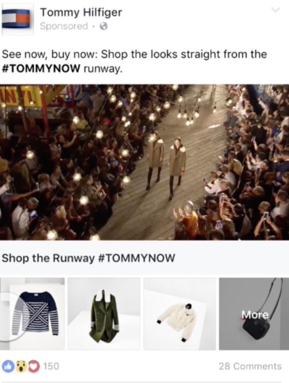 an example of a Facebook Collective Ad